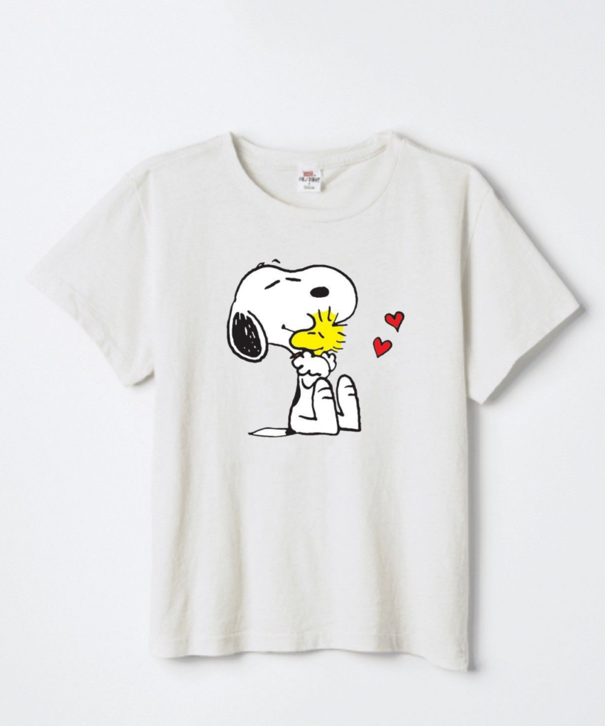 Classic T Snoopy & Woodstock Love Vintage White ReDone