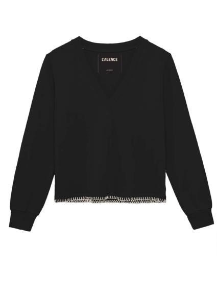 Helena Sweatshirt Black L'Agence