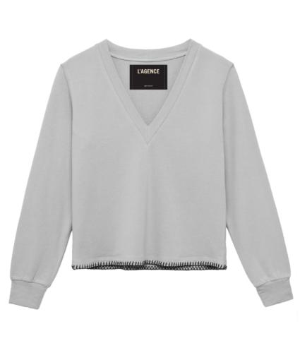 Helena Sweatshirt Heather Grey L'Agence