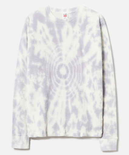 Thermal Long Sleeve Tee Lilac Drop Dye ReDone