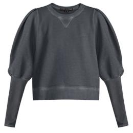 analeigh sweatshirt charcoal veronica beard