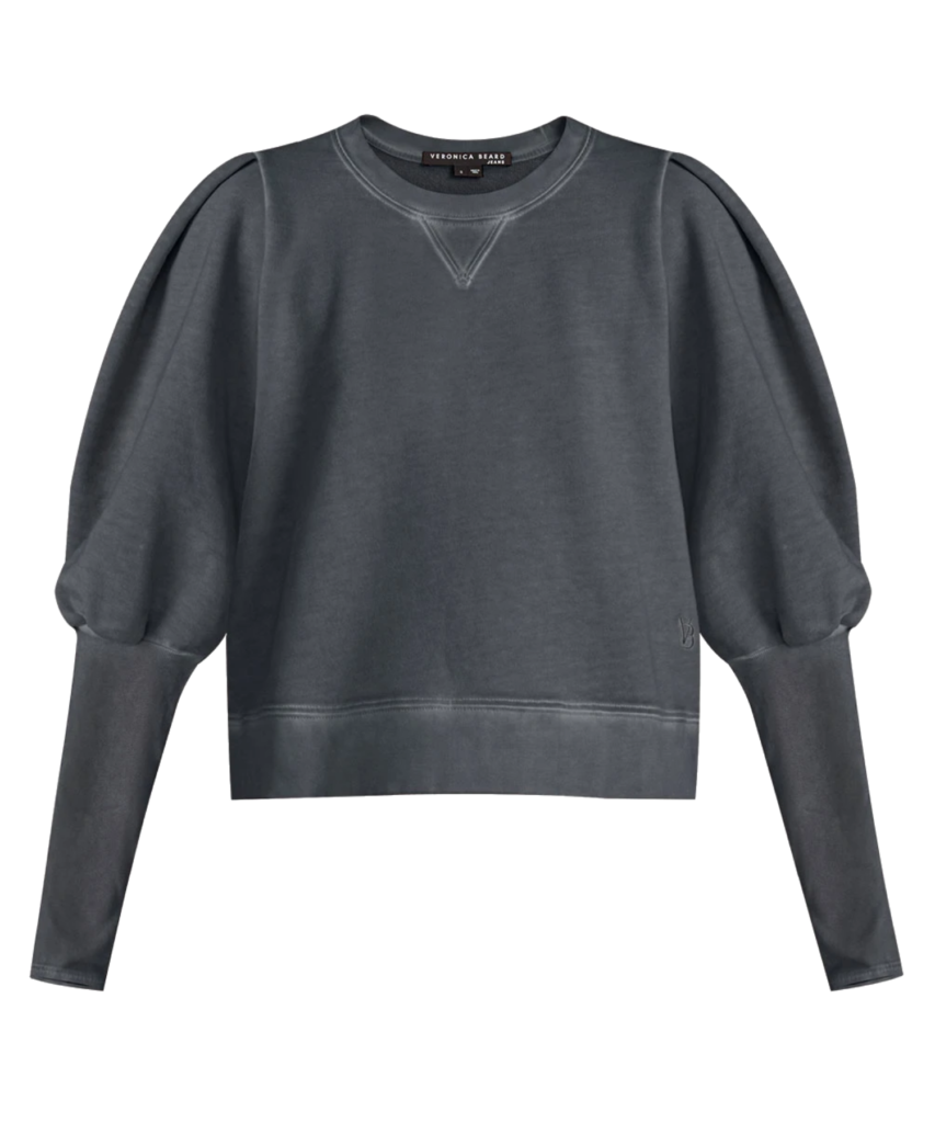 analeigh sweatshirt charcoal veronica beard