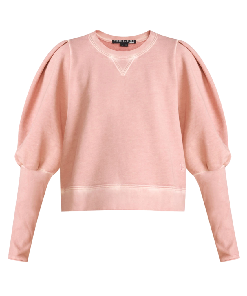 analeigh sweatshirt rosewood veronica beard