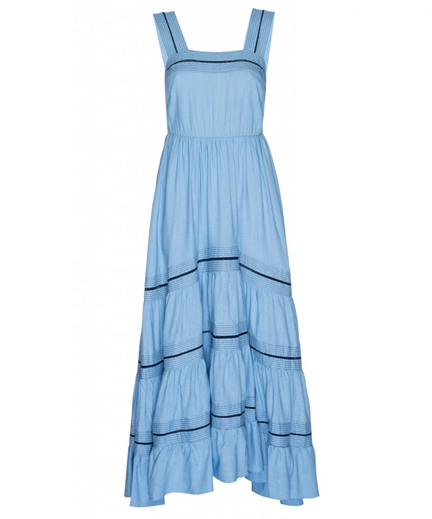 aurelia dress pale blue misa