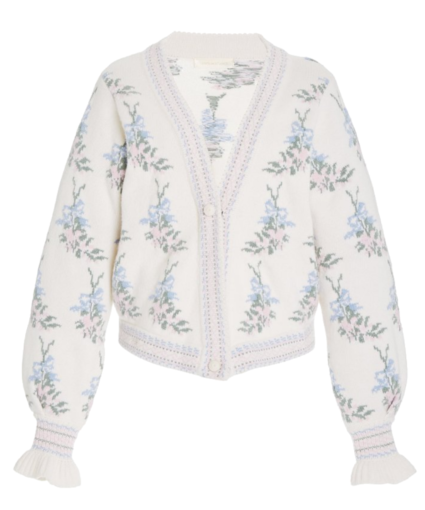 boscom cardigan dew drop cream multi loveshackfancy