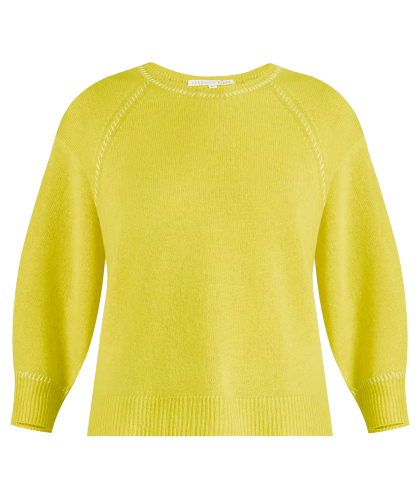 char cashmere sweater chartreuse veronica beard