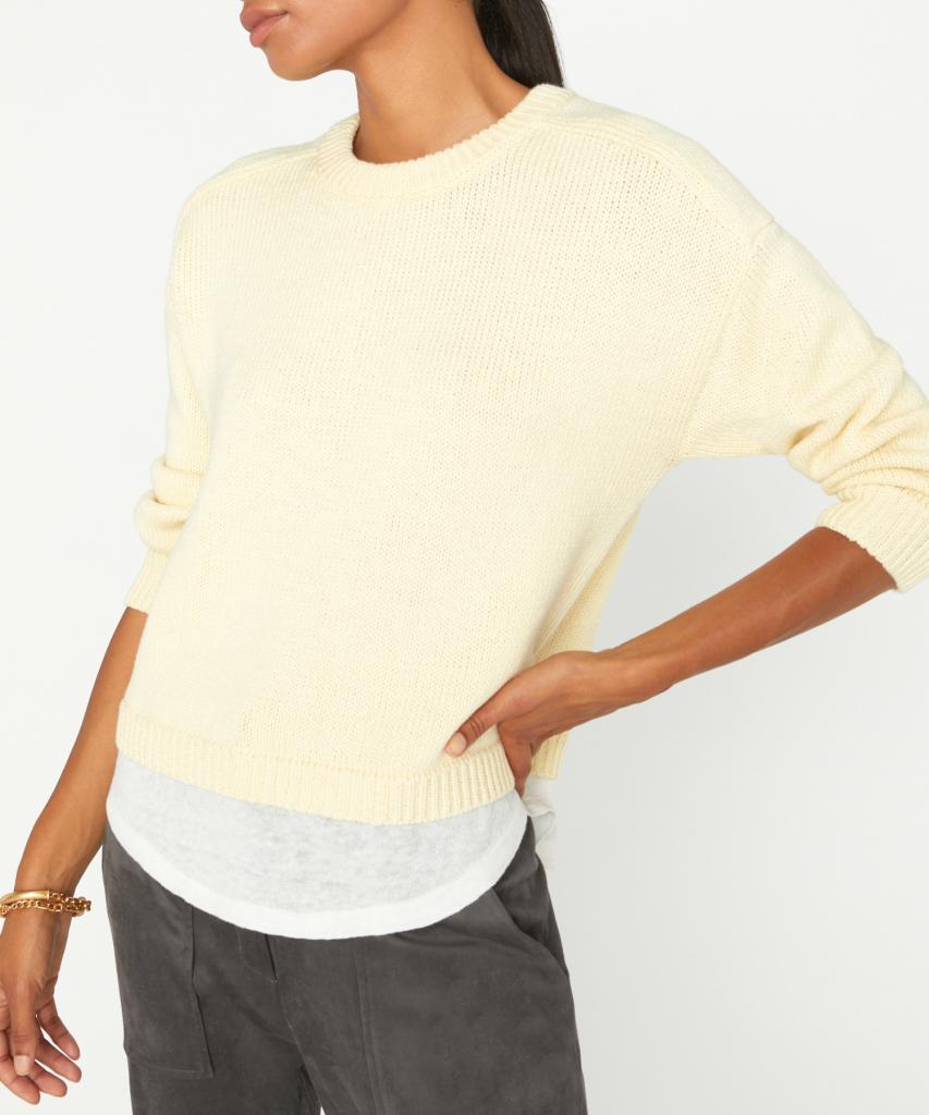 corbin sweater zest yellow white brochu walker