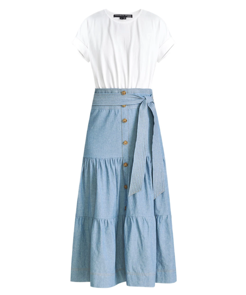 emmitt dress white chambray veronica beard