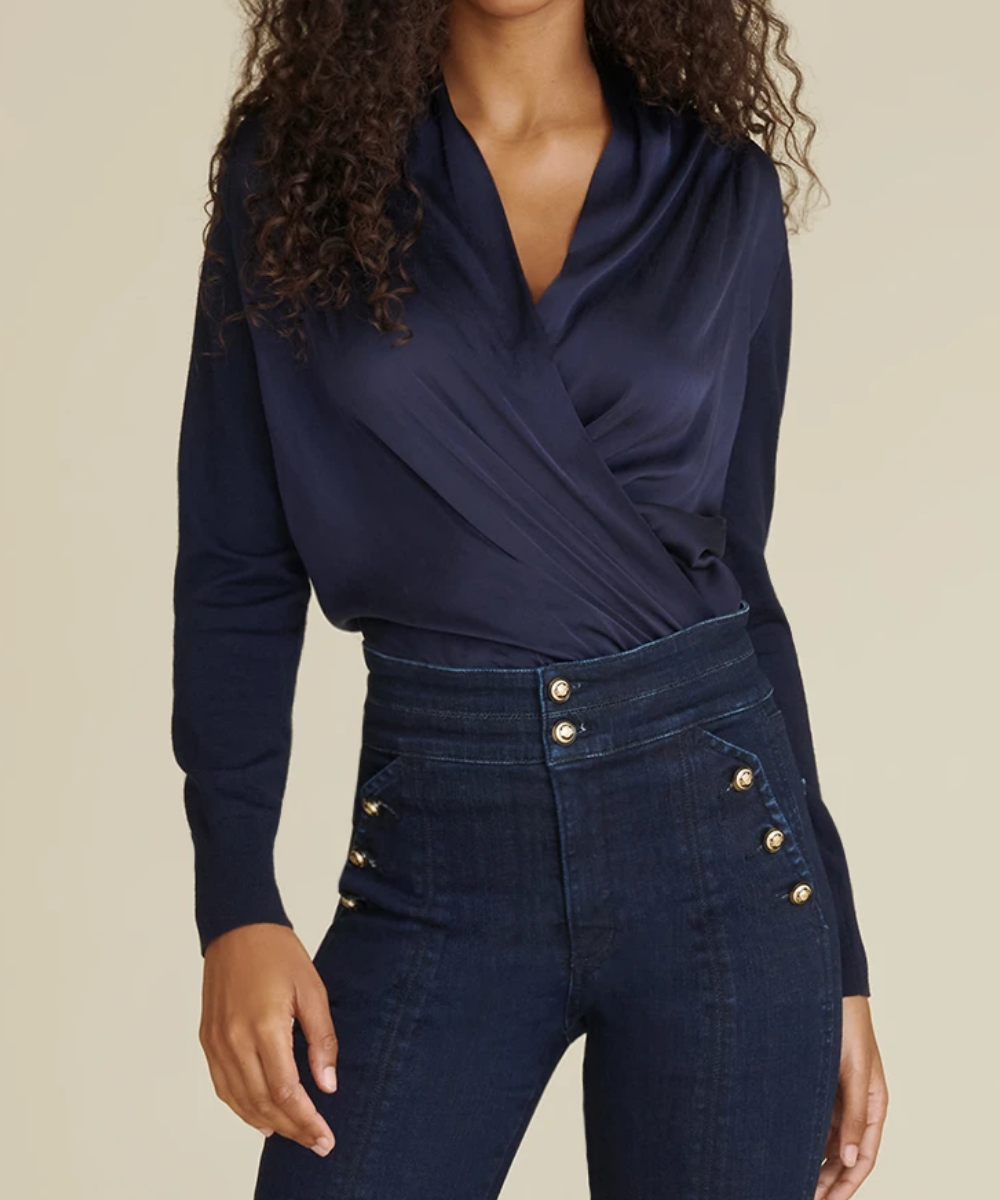 ingrid top navy veronica beard