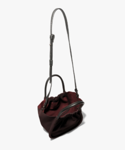 inside dark bordeaux small ruched tote proenza schouler