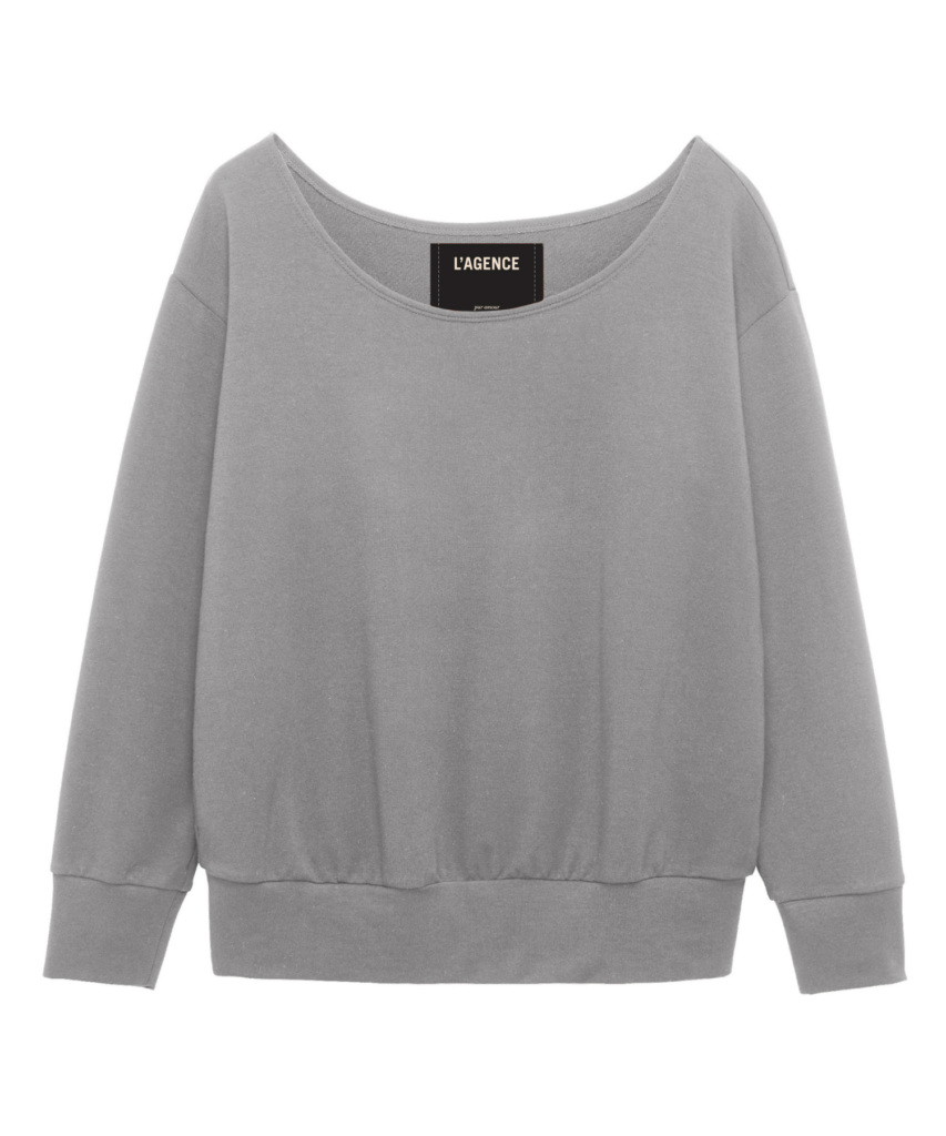 kimora top heather grey l'agence
