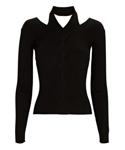 leah sweater black jonathan simkhai