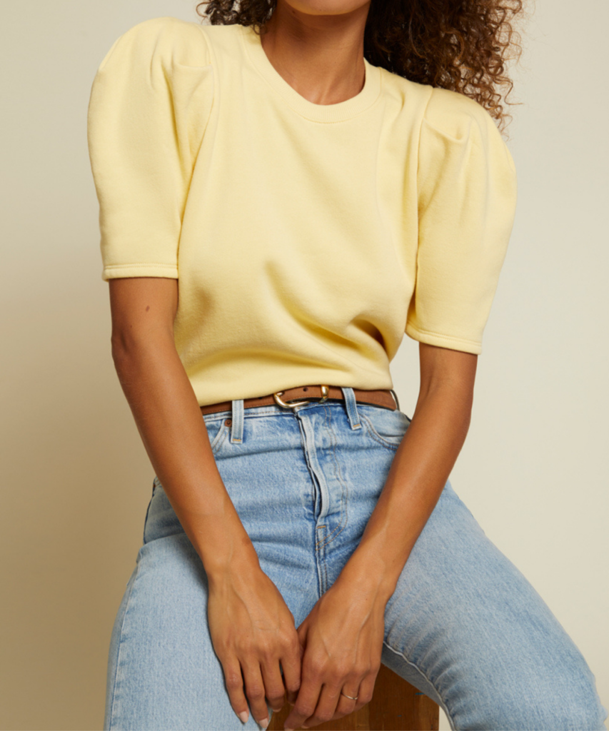 olivia sweatshirt cornsilk yellow nation ltd