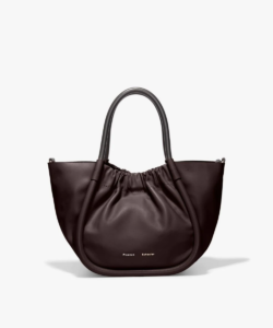 small ruched tote dark bordeaux proenza schouler