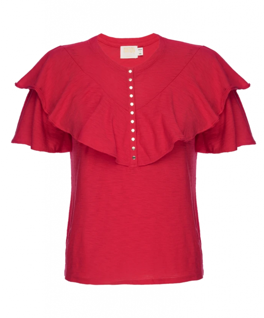 vivienne tee t-shirt campari red nation ltd