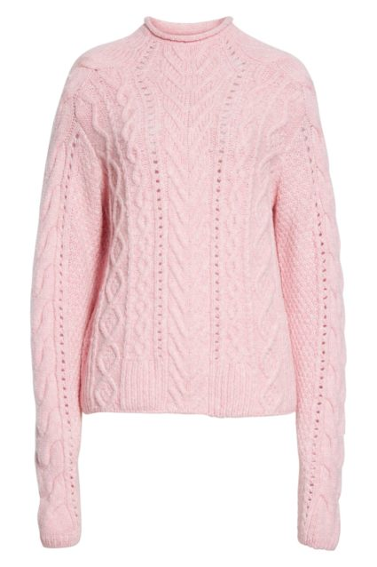 ariel mock neck pale pink sweater rag & bone
