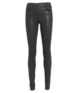 marguerite skinny jean coated black l'agence