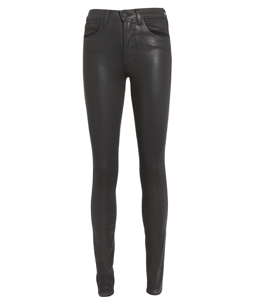 marguerite skinny jean coated black l'agence
