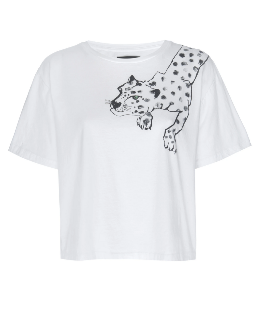 painted lil cheetah t-shirt white le superbe