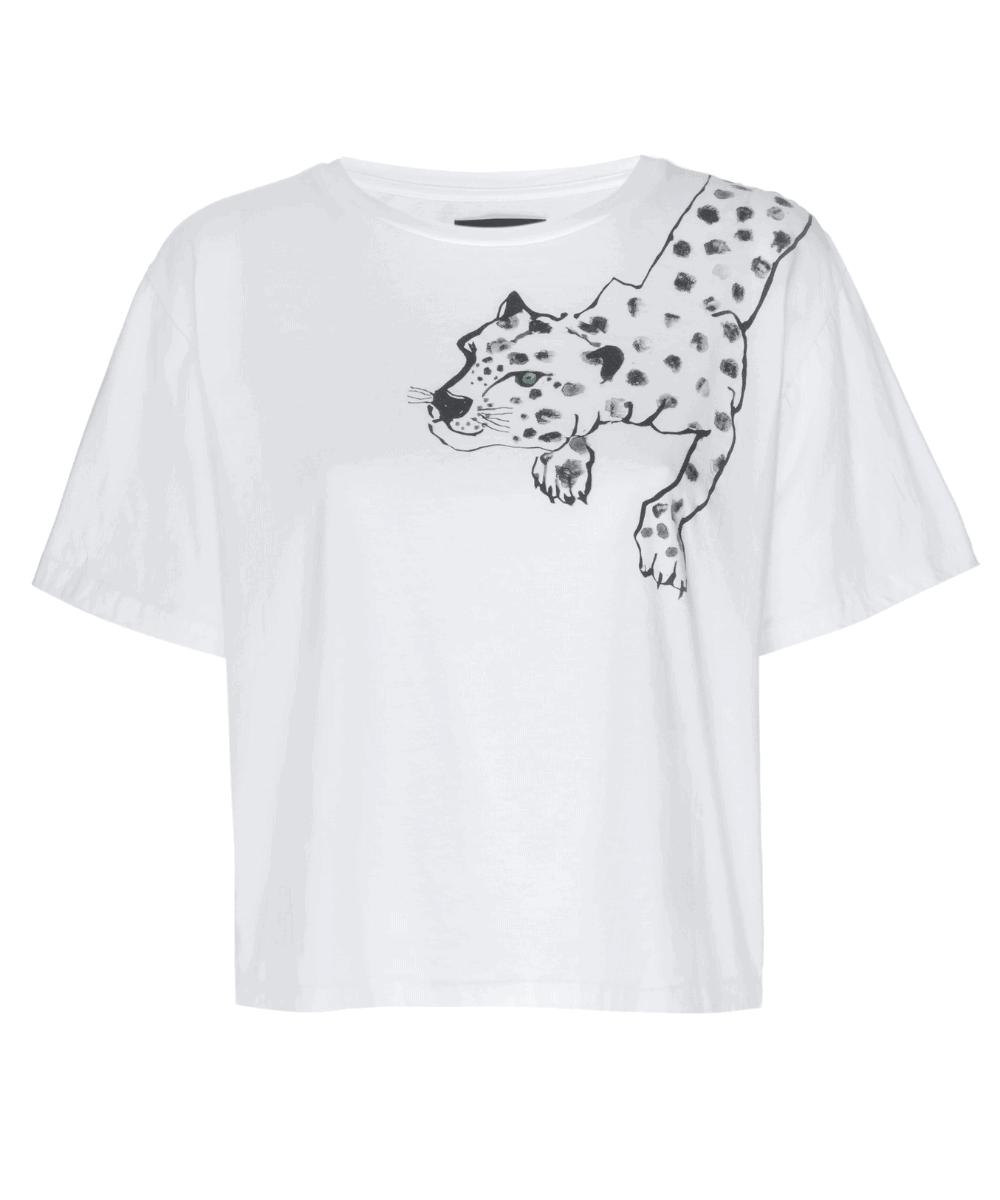 painted lil cheetah t-shirt white le superbe