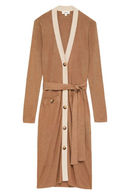 rebecca duster cardigan camel l'agence