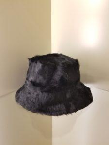 Fur Bucket Hat Black Linda Richards