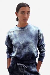 Tie Dye Sweatshirt Indigo Jonathan Simkhai
