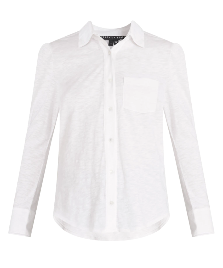 aidy slub shirt white veronica beard