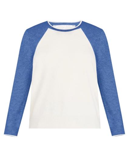 albertina sweater ivory blue veronica beard