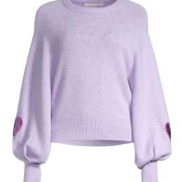 ashland sweater purple loveshackfancy