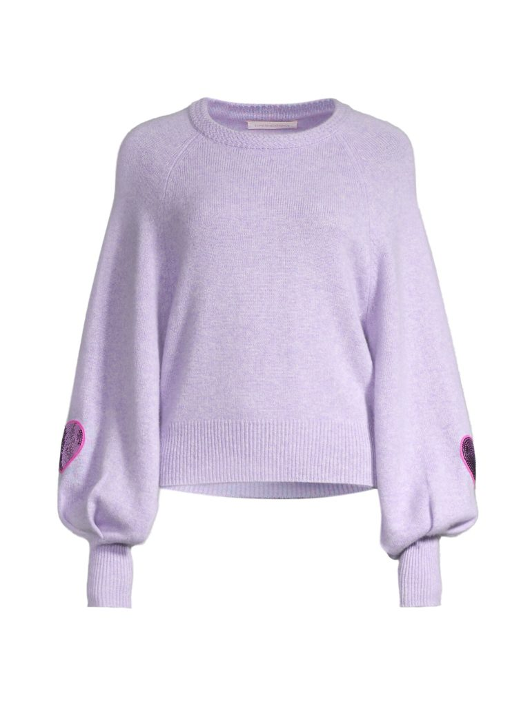 ashland sweater purple loveshackfancy