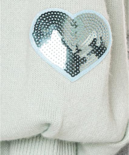 ashland sweater seafoam loveshackfancy close up