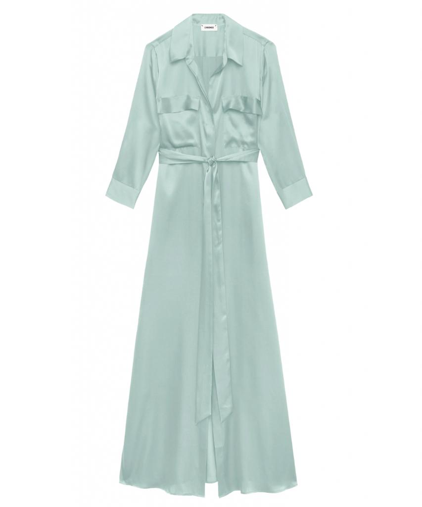 cameron shirt dress powder blue mint green l'agence