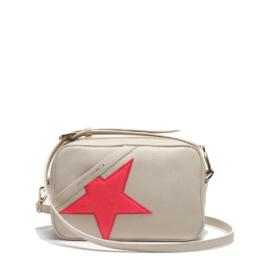 logo star camera bag ivory cream pink glitter star golden goose