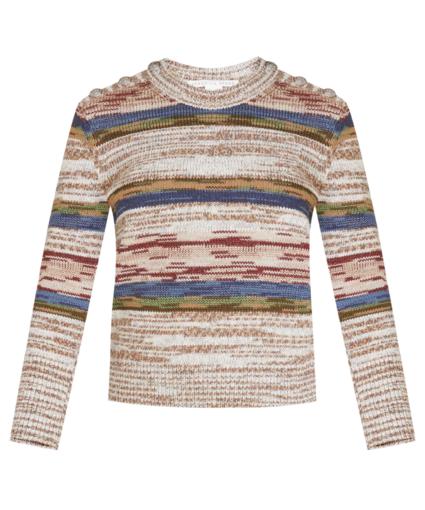 sohani space dye knit sweater multi veronica beard
