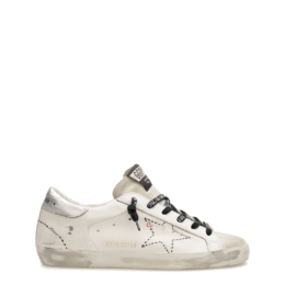 superstar sneaker white black silver logo laces heart love golden goose