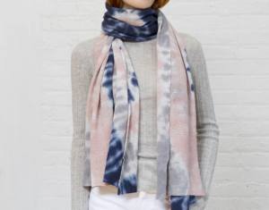 wrapped tie dye cashmere scarf neutral multi autumn