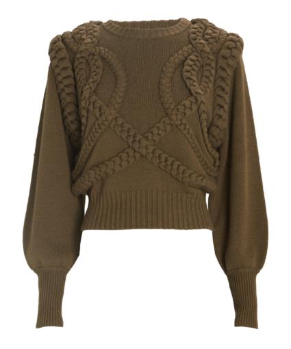 yeva sweater army olive green ronny kobo