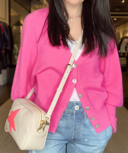Stacey Cardigan Bubble Pink Apparis