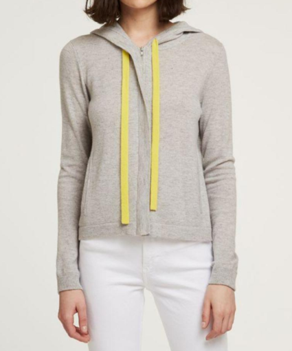 boxy hoodie with contrast ties fog glowstick autumn cashmere