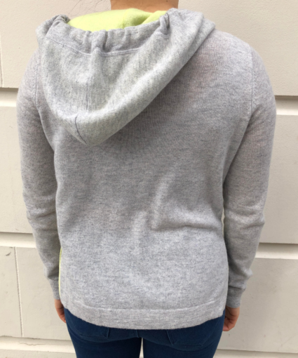 boxy hoodie with contrast ties fog glowstick autumn cashmere back