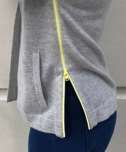 boxy hoodie with contrast ties fog glowstick autumn cashmere side