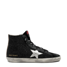 francy high top sneaker black glitter golden goose