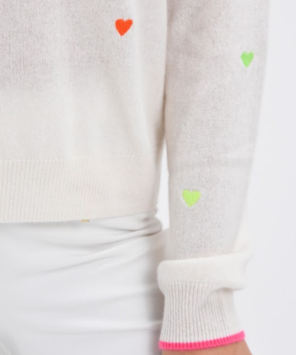 pia hearts sweater brodie cashmere close up