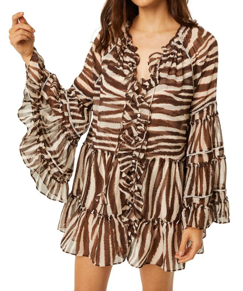 tallulah dress chocolate zebra misa