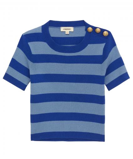 delphine sweater large capanula stripe l'agence