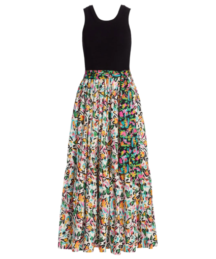 genevieve dress painterly multi white floral tanya taylor