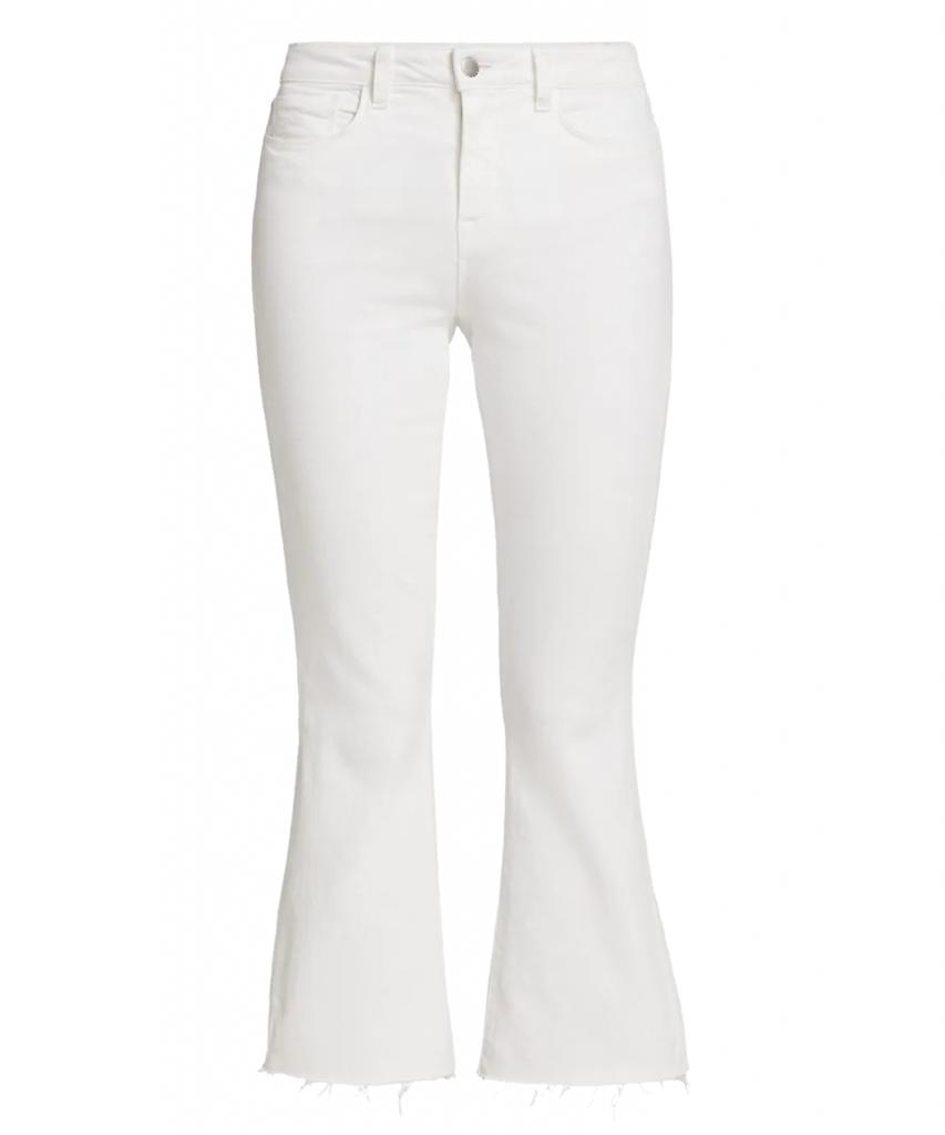 kendra crop flare jean blanc l'agence