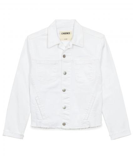 l'agence blanc janelle denim jean jacket