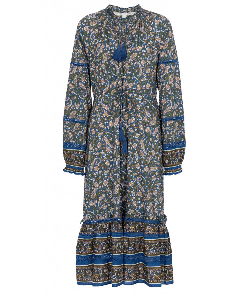 Sahana Dress Blue Multi Veronica Beard